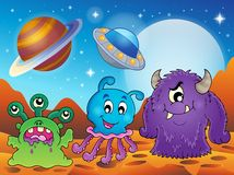 Image with monster theme 2 vector illustration