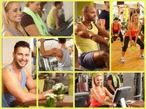 Image mosaic of fitness club Stock Photography