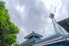 Image of mosque tower stock photography