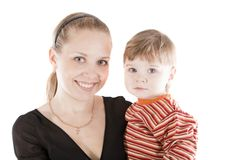 Image mother and son Royalty Free Stock Image