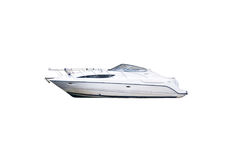 The image of motor boats isolated on a white background. Royalty Free Stock Photo