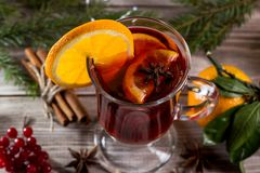 Image with mulled wine. royalty free stock photo