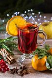 Image with mulled wine. stock photography