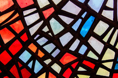 Image of a multicolored stained glass window Royalty Free Stock Photos