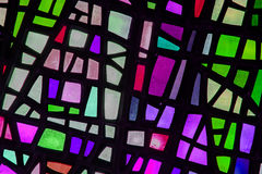 Image of a multicolored stained glass window Royalty Free Stock Photo
