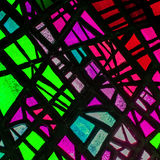 Image of a multicolored stained glass window Stock Photos