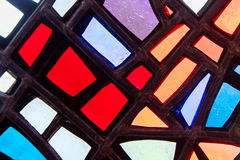 Image of a multicolored stained glass window Royalty Free Stock Images