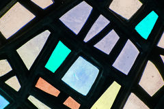 Image of a multicolored stained glass window Royalty Free Stock Photography