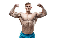 Image of muscle man posing in studio Stock Photography