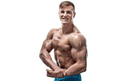 Image of muscle man posing in studio Royalty Free Stock Photos