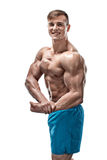 Image of muscle man posing in studio Royalty Free Stock Photo