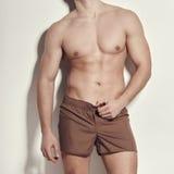 Image of muscle man posing in studio Stock Image