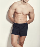 Image of muscle man posing in studio Royalty Free Stock Images