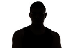 Image of muscular man's silhouette Stock Photo