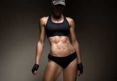 Image of muscular young female athlete Stock Images