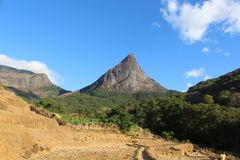 Natural mountain of sri lanka. Royalty Free Stock Photography