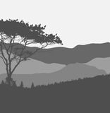 Image of Nature. Tree Silhouette. Vector Stock Image