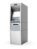 Image of the new ATM. On white background Stock Photography
