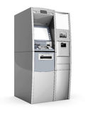 Image of the new ATM. On white background Royalty Free Stock Photo