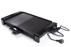 An image of a new electric barbecue on white background Royalty Free Stock Photography