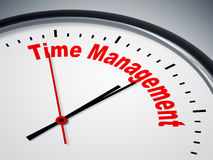 Time Management. An image of a nice clock with Time Management Stock Images