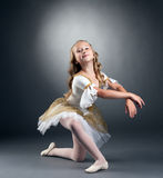Image of nice little ballerina posing at camera Stock Images