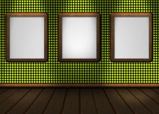Image of a nice wall red green for your content Royalty Free Stock Photos