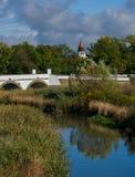 Image of the nine-holed bridge in Hortobagy. Hortobagy, Nine-holed Bridge, river, automn Stock Photos