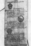 Image noire et blanche de plaque gravée Image libre de droits