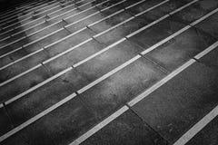 Image noire et blanche de répéter des étapes Photographie stock