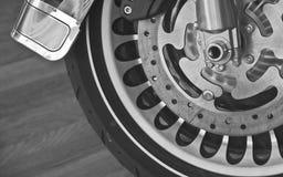 Roue à extrémité élevé de moto Photos stock