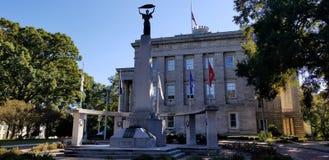 North Carolina State House and World War II Memorial stock photo