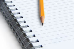 Image of a notebooks and pencil Royalty Free Stock Photos