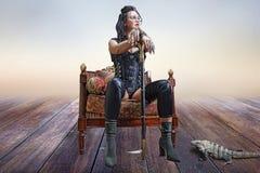Free Image Of A Beautiful Steampunk Girl Stock Photo - 103331650