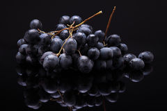 Free Image Of Black Grapes On Black Background With Reflection Royalty Free Stock Images - 61993389