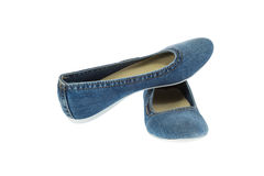 Free Image Of Blue Jeans Women Fashion Slippers Royalty Free Stock Image - 35316926
