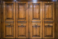 Free Image Of Brown Ancient Wooden Four Parts Door Stock Photos - 159824333