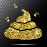 Image Of Gold Glitter Shit. White Background. Vector Illustration Stock Photography