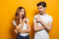 Free Image Of Happy Young People Man And Woman In Basic Clothing Laug Stock Photography - 124181332