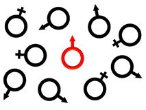 Image Of One Red Man S Symbol. Stock Image