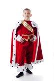Image Of Smug Little King Isolated On White Stock Photography