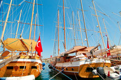 Image Of Wonderful Yachts In The Bodrum. Stock Photo