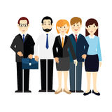 Image 5 of office workers in business suits. Vector Stock Photography
