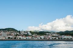 Image og the city of Horta on Faial Island in Azores archipelago