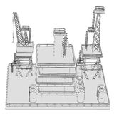 Image of oil rig Royalty Free Stock Photo