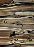 Image of old antique books stack Stock Images