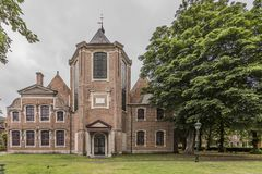 Image of an old church in the middle of a park in Ghent Belgium royalty free stock image