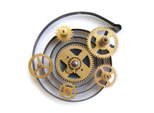 Image of a old clock's parts Stock Images