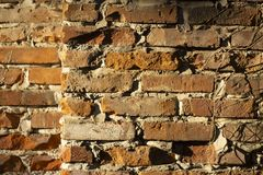 Old Brick Wall Texture for Abstract Background royalty free stock photos
