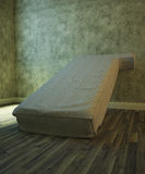 Image of an old mattress in an empty room. 3d illustration Royalty Free Stock Photos